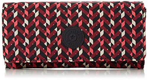 Kipling Damen Brownie Geldbörse, Mehrfarbig (Pink Chevron), 19x10x3 cm