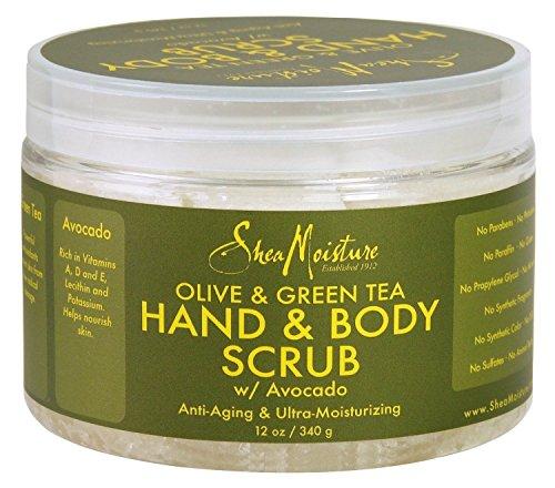 SHEA MOISTURE Olive/Green Tea Body Scrub Anti-Aging/Ultra-Moisturizing