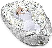 Amazinggirl Reductor de Cuna - nidos para Bebes colecho Bebe Cuna algodón y Material Minky cálido