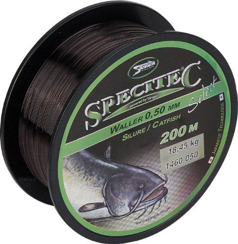 """Specitec """" WALLER """"SchnurØ 0,50mm Black Shadow Angelschnur monofil Zielfischschnur"""