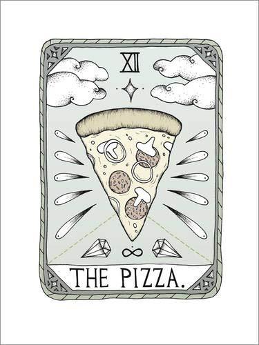 Posterlounge Holzbild 120 x 160 cm: The Pizza von Barlena