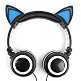 DURAGADGET Blaue Katzen Over-Ear Kinder Kopfhörer Stereo für Odys Pace 10 - LTE Office Edition (Media Markt) Tablet-PCs