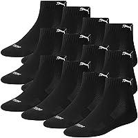 PUMA Unisex Match Quarters Socken Sportsocken MIT FROTTEESOHLE 12er Pack black 200 - 39/42