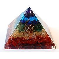 Reiki heilende Energie geladen Krystal Gifts UK Sieben Chakra Crystal Chip groß 7cm Energetische Pyramide inkl... preisvergleich bei billige-tabletten.eu