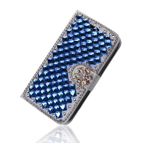 iPhone SE Coque, iPhone SE portefeuille Coque, Lifeturt [ Note de musique ] Livre cuir de qualité supérieure Wallet Case Cover pour iPhone SE E02-11-Bleu Diamant