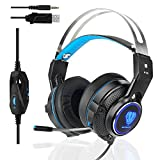 Professional Gaming Headset for your choice. Package included: 1* headset Features: Splendid ambient noise isolation, noiseless to help restore of real Klanges, natural pickup. Light weight design with rotating earbuds for a more personal fit, the,...
