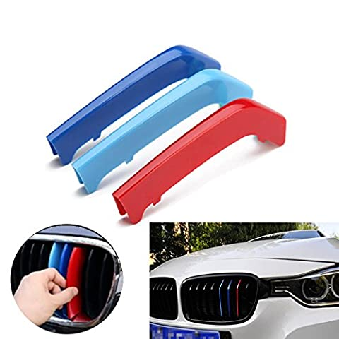 ABS Front Grill Clip Panel Buckle Stripe For BMW 3 Series F30 2013-2015 (8 Bars Minor axis only)