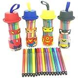 [Sponsored]Shopkooky Cartoon Sketch Pen Set For Kids Perfect For School Going Children Best For Gifting Purpose Return Gifts For Kids Birthday In Bulk (Pack Of 4)