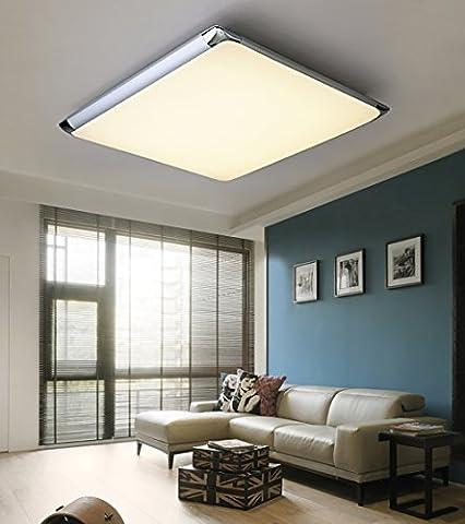 Natsen® 30W Moderne LED Deckenlampe mit Fernbedienung voll dimmbar Lampe geeignet für Flur, Wohnzimmer, Küche, Bad etc. (520mm x 520mm)