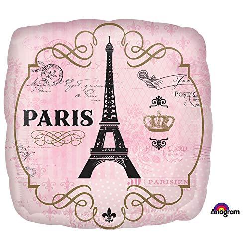 Folienballon * PARIS * für Mottoparty oder als Geschenk // Frankreich Eiffelturm Helium Ballon Geburtstag Deko Dekoration