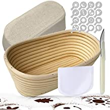 Banneton Oval 25 cm Banneton Para Pan Kit De Pan, Incluye Herramienta De Puntuación Para