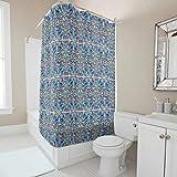 CATNEZA Flower, Mandala Bedruckt Duschvorhang Waschbar Shower Curtain Mandala Badewannenvorhang Wohnaccessoires 180x200cm White 120x200cm