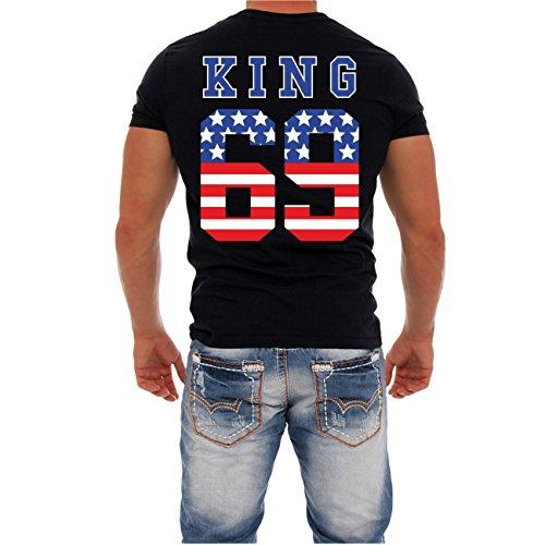 Partnershirt King & Queen (mit Rückendruck) MANN schwarz