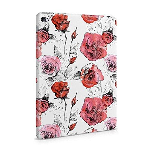 Lily Handy Snap (Weich Rot Watercolor Rose Blossom Muster Dünne Tablet Handy Schutzhülle Hardcase Aus Hartplastik Hülle für iPad Mini 4 Case Cover)
