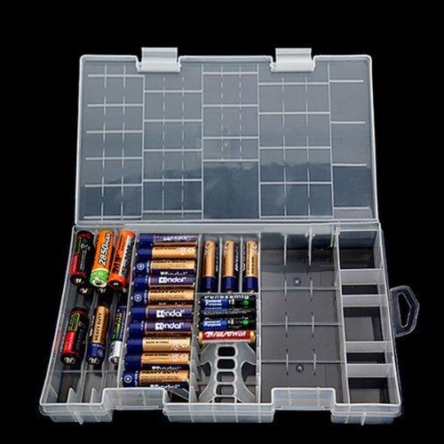 AAA AA C D 9V Battery Holder Hard Plastic Case Storage Box Test