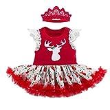 Anguang Pagliaccetto Bambino Nato Natale Abbigliamento Set Vestito del Bambino Insieme di Vestiti Stile 1 66