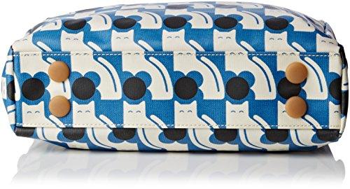 Orla Kiely Zip Messenger Tasche Blue (Powder Blue)