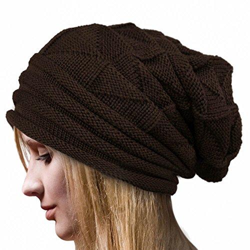 SMILEQ Ausverkauf Mädchen Damen Frauen Warm Winter häkeln Hut Wolle Strickmütze warme Caps ()