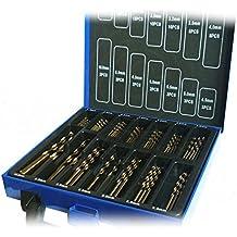 Juego de brocas de cobalto (HSS-Co / Inox), metal HSS, diseñado para acero inoxidable, 99 piezas