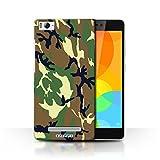 Stuff4® Hülle/Hülle für Xiaomi Mi 4i / Grün 4 Muster/Armee/Tarnung Kollektion