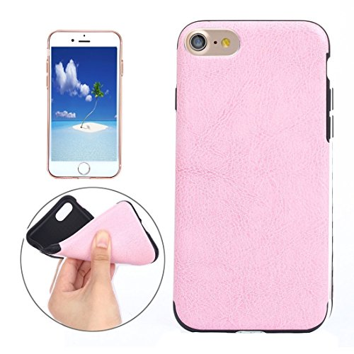 Hülle für iPhone 7 plus , Schutzhülle Für iPhone 7 Plus Crazy Horse Texture Soft PU Schutzmaßnahmen Leder Tasche ,hülle für iPhone 7 plus , case for iphone 7 plus ( Color : Pink ) Pink