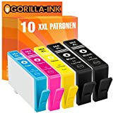 Gorilla-Ink® 10 Patronen XXL kompatibel für HP 364 XL (4/2/2/2) Officejet 4620 E AIO 4622 Photosmart 5510 5510 Wlan 5514 5514 B 111 C 5515 5520 5520