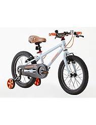 Greenway niños 16pulgadas marco de acero para bicicleta con rueda de apoyo, Hi Spec, 3–6años