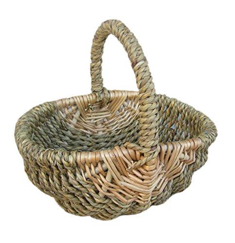 Red Hamper Shopping Basket Childs Seagrass Shopper, Wicker, Brown, 19 x 9 x 15 cm