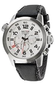Reloj de caballero Sector Oversize R3271702045 de cuarzo, correa de textil color negro de Sector Watches