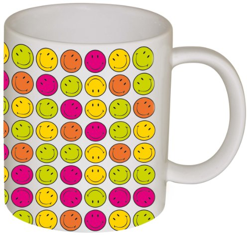 Zak Designs 6187-1594 Mug Décoré Smiley Happy Days 35 cl