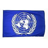 AZ FLAG Bandiera ONU 150x90cm - Bandiera ORGANIZZAZIONE delle Nazioni Unite 90 x 150 cm