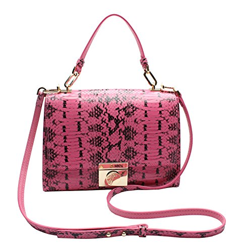 Versace-Collection-Reptile-Pattern-Leather-Small-Shoulder-Handbag