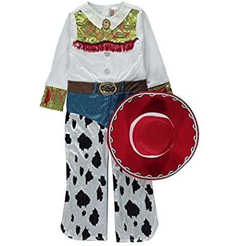 Fancy Dress George Girls Toy Story Jessie Cowgirl Costume + Hat 3-4 Years (Toy Story Jessie Kostüm Zubehör)
