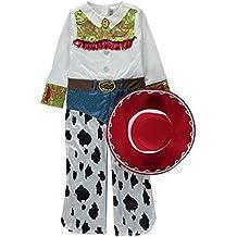 Disney George Pixar - Disfraz de Jessie la vaquera de Toy Story con sombrero para niña