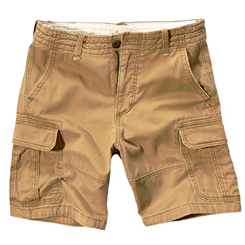 Hollister Herren Hollister Classic Fit Cargo Shorts Bermuda, Größe Small, Dunkelkhaki (620596191) (Hollister Abercrombie)