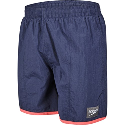 Speedo Herren Farbe Block Watershorts, Herren, Colour Block Navy/Lava Red