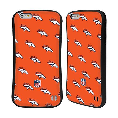 Ufficiale NFL Righe 2017/18 Denver Broncos Case Ibrida per Apple iPhone 6 / 6s Pattern