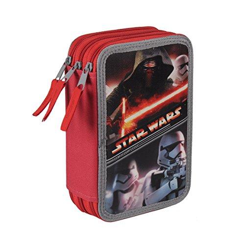 Preisvergleich Produktbild Star Wars Federtasche Federmappe 3-stöckig gefüllt 43-tlg. 0167
