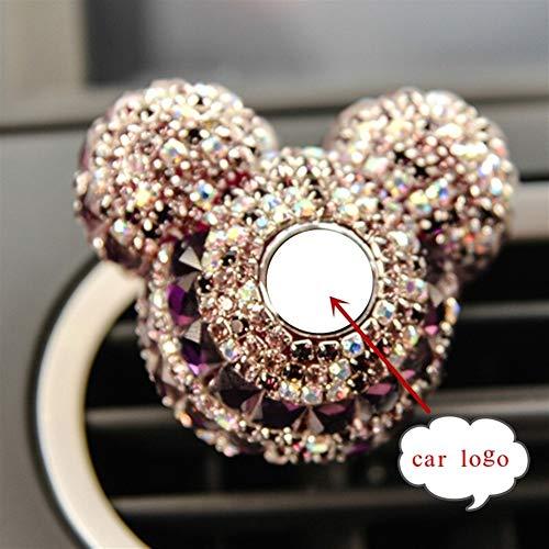 Bevanda rinfrescante di aria auto di lusso Logo Profumo diamante del condizionatore d'aria Uscita clip decorazione Purificatore d'ambiente Car Styling Lady Profumi o