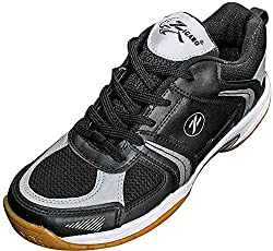 Zigaro Mens Black Synthetic Badminton Shoes - 6 UK