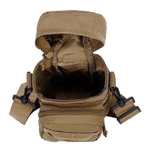 ueasy Tactica Wasser Flasche Tasche 600D Tactical Nylon Molle Utility Pouch Wandern Wasser Flasche Tasche - CP