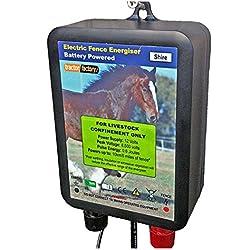 Comté de Électrificateur de clôture électrique 0.6joules Batterie 12V étanche 6Mile de clôture