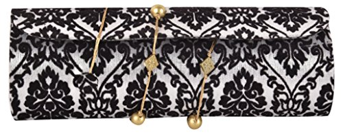 Anas Embroidery Women's Clutch Party Wear Hand Embroidery Box Clutch's Hand Wallet's Purses For Woman Embroidery Bag's For Bridal Hnad Bag's Casual Party Wear Wedding Bag's For Woman Embroidery Latest Clutch's Potli Handicraft Bag clutch purses for girl;s for Woman (Anas, Black Printed -00027)  available at amazon for Rs.449