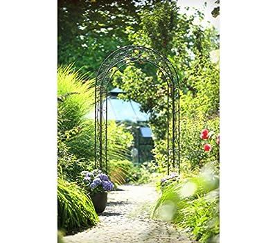 Dehner Rosenbogen Cornwall, ca. 236 x 118 x 31 cm, Metall, grau/schwarz von Dehner auf Du und dein Garten