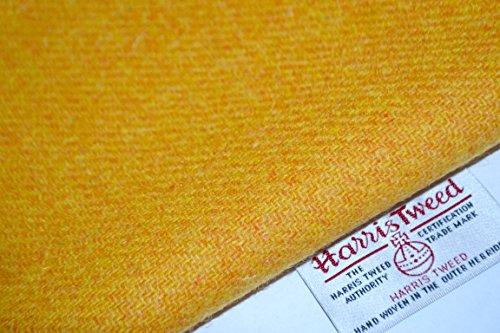 Harris Tweed Stoff 100% reine Schurwolle gelb uni halben Meter...