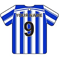 Ambientador De Coche Personalizado SHEFFIELD WEDNESDAY FOOTBALL SHIRT