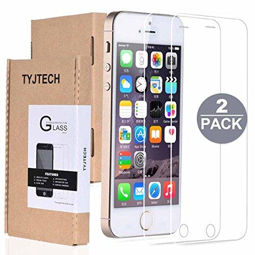 Cristal Templado iPhone 5S 5C 5 SE, TYJTECH 2-Pack Vidrio Templado Protector...