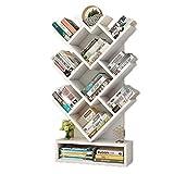 Bücherregal Kinderbücherregal in Baumform, stehendes Unterricht/Kinderzimmer / Wohnzimmer , 50 × 21,6 × 100 cm, Farbe optional (Farbe : Weiß)