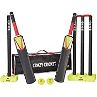 Crazy Cricket Set - Junior, 1 x Size 3 and 1 x Size 5 Bat, Kwik, Quick, Beach, Park - Suitable for approx ages 8-13 years