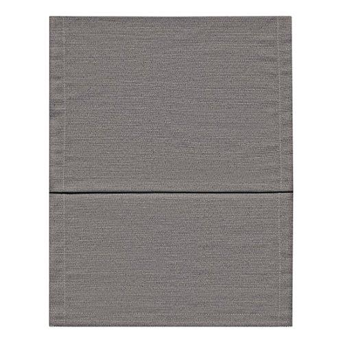 Fino Tischläufer ca. 40 x 150 cm mit Saum hochwertig & knitterarm mit großer Farbauswahl (003 Grau)